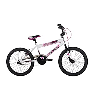 41AYNVBrBIL. SS300  - Flite Unisex Youth Screamer BMX, White, 11-Inch/20-Inch