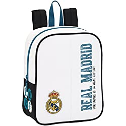 Safta Sf-611754-232 - Real Madrid Mochila escolar, Guardería Adaptable, 27 cm, Multicolor