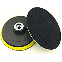 Almohadilla de lija orbital de 10 cm / 100 mm mágica, almohadilla de lijado, gancho y bucle con adaptador de taladro eléctrico, disco de pulido autoadhesivo tipo amoladora