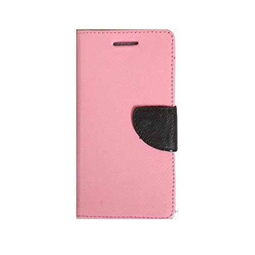 Lomoza TM© Wallet Diary Flip Cover Case for Xolo A600 - Baby Pink - Premium Cover with Inner Pocket  available at amazon for Rs.349