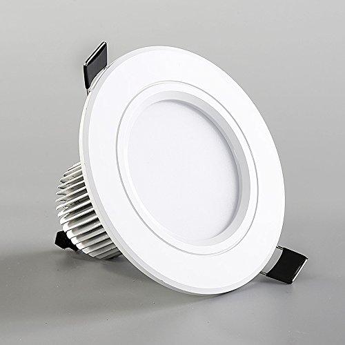 Ic-einbauleuchte (Splindg 1Pcs LED Downlight 110V 240V 12W 18W LED Decke mit IC Driver Round Einbauleuchte LED Spot Licht für Schlafzimmer Küche (Color : Warm White, Größe : 5 inches 18W))