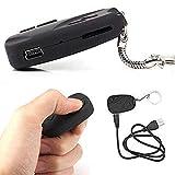 melysEU Portable Versteckte Kamera ideorekorder Mini Keychain Spy mit USB Ladekabel (Schwarz)