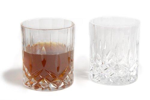 r-Set, Whiskytumbler, Whiskeygläser Kristallglas aus Italien,Glasgeschenke Trinkglas Haushalt ()