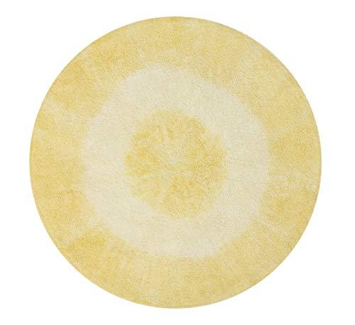 arer Teppich Tie - Dye 100% Baumwolle -Gelb- 150x150 cm ()