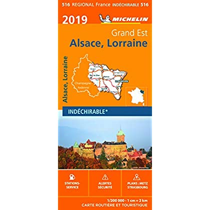Carte Alsace-Lorraine Michelin 2019