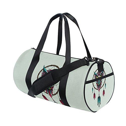 jstel Atrapasueños búho bolsa de deporte gimnasio para hombres y mujeres bolsa de viaje de viaje