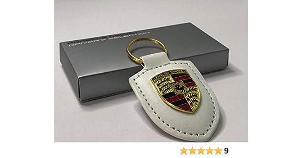 Cayenne Noir Panama Car Design TP Porte-cl/és en cuir pour voiture de Porsche 911