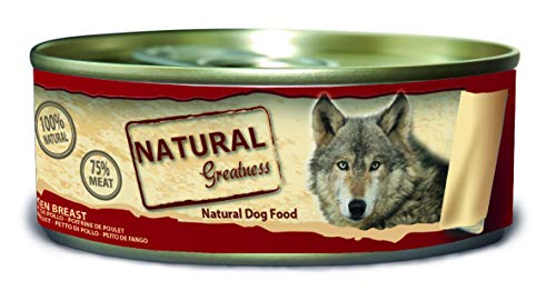 Natural Greatness Comida Húmeda para Perros de pechuga de Pollo. Pack de...