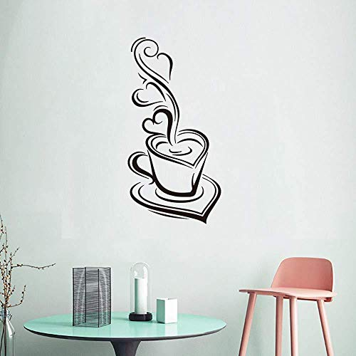 Wandaufkleber Kaffeetasse Wandaufkleber Esskultur Aufkleber Essküche Dekoration Aufkleber 40 X 20 Cm Schwarztv Sofa Hintergrund Deko