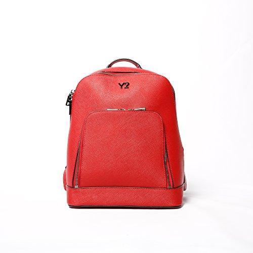 Zaino Y Not linea DK RED tessuto saffiano rosso