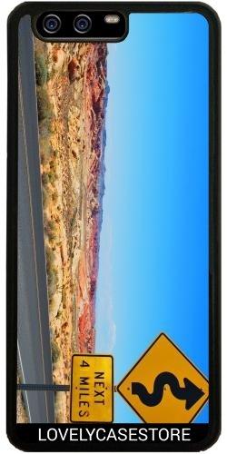 Hülle für Huawei P10 - Straße USA USA Drehen Vereinigte Staaten Wüste Arid Sun Sky Blue