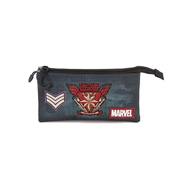 Karactermania Captain Marvel Force-astuccio Portatutto Triplo HS Estuches 24 Centimeters Multicolor (Multicolour)