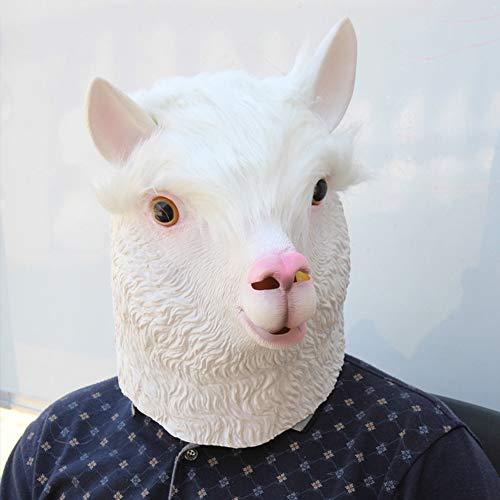 (Ydq Halloween Alpaka Maske Tier Styling Umweltfreundlich Latex Material Angst Terrorist Kopfbedeckung Cosplay Cos Masquerade)