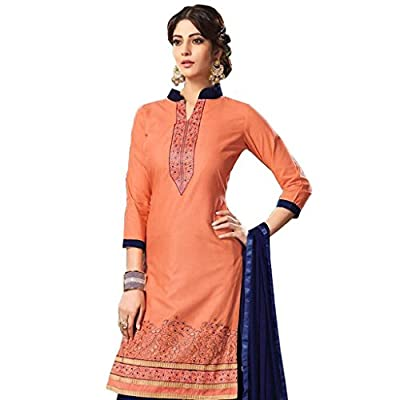 Krishna Creation Women's Cotton Party /Casual Wear Readymade Salwar Suit Sets (Free Size, Pink) (Femina-1001-Pihu15)