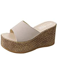 7eae0f31ec K-Youth Chanclas Mujer Sandalias Mujer Verano 2018 Antideslizantes Chanclas  Zapatos De Playa Sandalias de Cuñas Mujer Mujer Zapatillas…