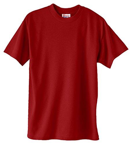 Hanes Adult ComfortBlend Eco Smart Crewneck Hem T-Shirt Deep Red