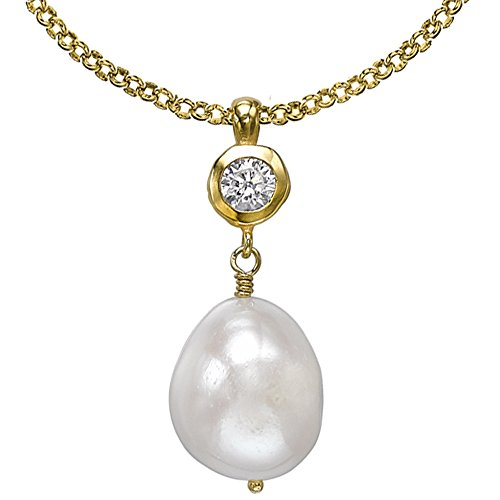 dower-hall-pearlicious-gold-plated-white-topaz-and-freshwater-pearl-pendant-on-belcher-chain-of-46cm