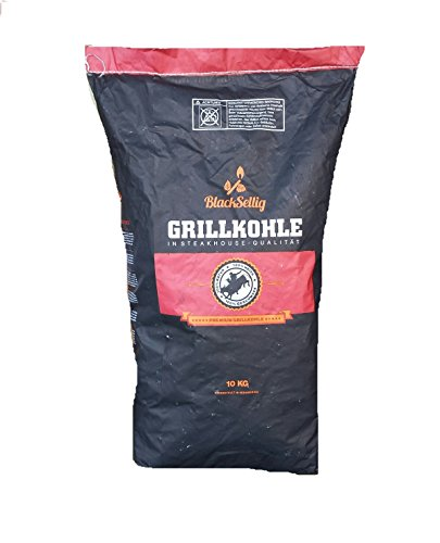 10 Kg Steakhousekohle von BlackSellig reines Quebracho BLANCO Holz Grillkohle - perfekte Restaurantqualität -REACH registrierte Holzkohle !