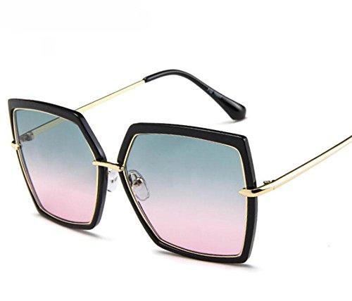 SHIQUNC Polygon männliche und weibliche großzügige Box Sonnenbrille Trend Sonnenbrille Ozean Film Brille, 1