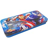 Parteet® Latest Multicolour Cartoon Printed Metal Pencil Box With Accessoriess For Kids(Avenger)