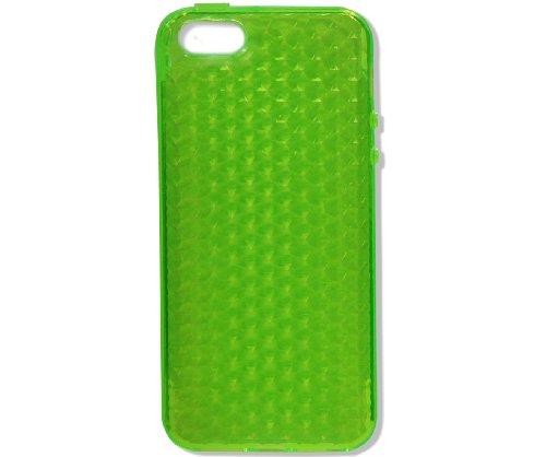 iPhone 5 Cover Housse Etui Bumper Frame Coque Cadre en Silicone Gel Diamant. Plusieurs motifs disponibles! Vert