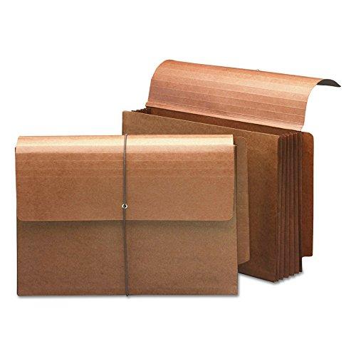 SMEAD Ende Tab Wallet, 5-1/10,2cm Erweiterung, Lasche und Kordel Verschluss, Legal Größe, Redrope, 10Stück pro Box (71148) Media Wallet Case