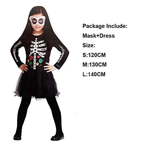 Für Kostüm Kleine Mädchen Scary - Aeromdale Skeleton Rainbow Scary Cosplay Kinder Erwachsene Halloween Kleid Frauen Baby Mädchen Horror Kostüm Hexe Männer Devil Disguise Carnival Party - # 4 - L