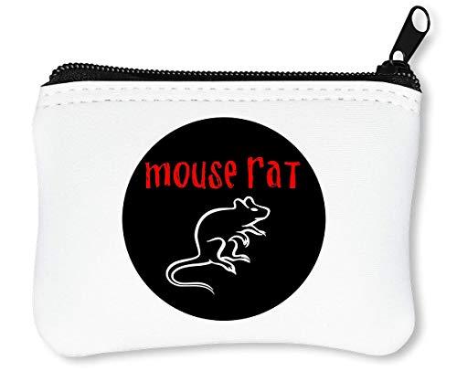 Mouse Rat Band Logo Reißverschluss-Geldbörse Brieftasche Geldbörse -
