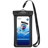 MoKo Floating Waterproof Phone Pouch, Waterproof Cellphone Case Dry Bag with Armband Lanyard Compatible iPhone 11/11 Pro/X/Xs/Xr/Xs Max, 8/7/6s Plus, Samsung Galaxy 20/S10/S9/S8 Plus, S10 e, Note 9/8