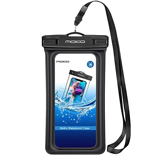 MoKo Wasserdichte Schutzhülle, Universal Dry Bag Tasche mit Armband für iPhone X/8 Plus/8/7/6S Plus, Samsung Note 8/S8+/S8, Huawei, Blau, Google Nexus, Weiß - Armee-samsung Galaxy S3 Case