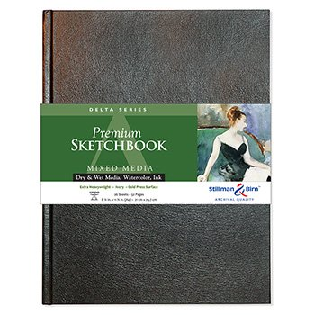 Stillman & Birn: Delta-Sketchbook 8,25 x 11,75 in (A4) Hardcover 270gsm - Elfenbein kalt - Birn-delta And Stillman