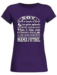 f0454aa73 TEEZILY Mamá Fútbol Camiseta Mujer