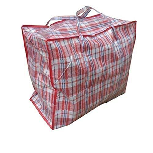 Bravoy Größe Aufbewahungtasche Tragetasche Mit Handgriff für Bettwäsche Verstauen Kissen Matratzenauflagen Decken Reißverschluss 80×60×20CM (80×60×20CM)
