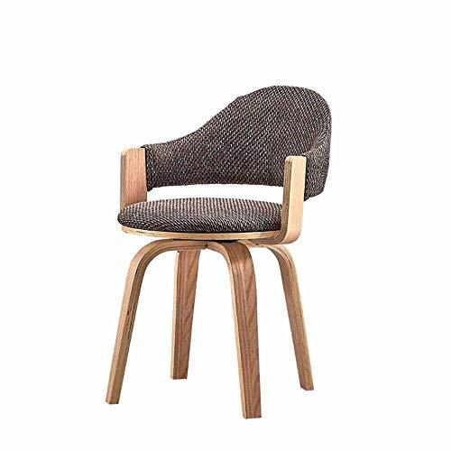 GZ Nordic Massivholz-Drehstuhl Kreative Rückenlehne Study Office Sessel,A,1