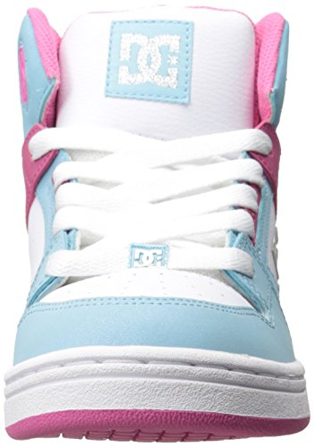 DC REBOUND LE ADBS100014B-WE9, Jungen Sneaker Cyan/Magenta