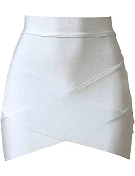 SUNNOW Faldas de Mujer Sexy Correas Cruzadas Cortas Faldas Ajustadas Falda de Tubo Falda de Abrigo