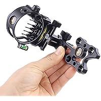LYY 5 Pin Arco Compuesto Sight, rápida Micro Ajustable mira de un Arco con la Retina de Bloqueo para Tiro con Arco Caza Practicar - Negro
