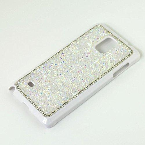 Samsung Galaxy Note 4 N9100 Smartphone Cover,Vandot 3 e 1 set Utra Thin Light Glitter Grossi Artificiale Custodia Case Cover di Protezione Skin di Hard Silicone PC - Rosa + Adorabile Kitty Gatto Spina Bianco