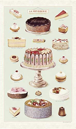 Cavallini Papers & Co. Geschirrtuch, Vintage Tea Towels, Patisserie, Kuchen backen Vintage Tea Towel