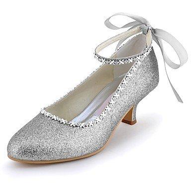 pompa estate Wuyulunbi per base di primavera Strass frizzante punta Argento della glitter chiusa donna basso scintillanti scarpe punta Glitter Wedding Scarpe tacco wqSXwr0