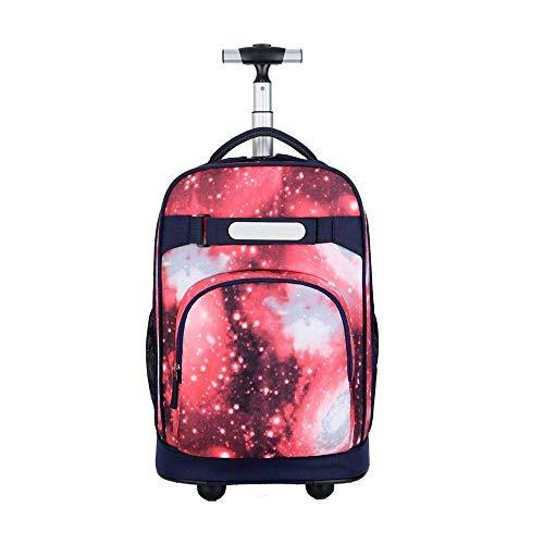YEXIN 18-Zoll-Rollrucksack auf Rädern for Teenager College-Bücher Reisetasche Trolley , Multi-Color Optional (Color : Style C) - 18 Für Bücher Teenager
