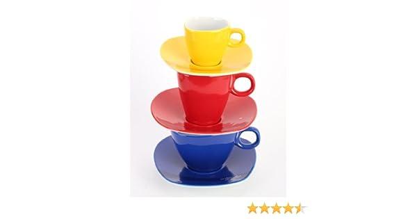Cappuccino /& Caff/é Alfredo Trendgeschirr blau Tassenturm f/ür Espresso
