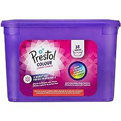 Marque Amazon- Presto! Doses de lessive Couleurs, 152 Lavages (4 packs de 38 lavages)