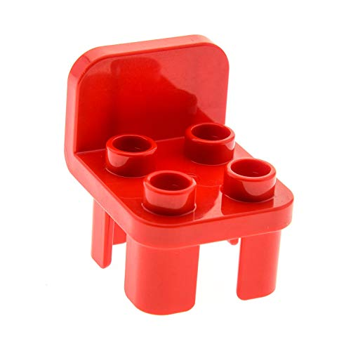 Bausteine gebraucht 1 x Lego Duplo Stuhl Rot 4 Noppe Stühle Sitz Lehne Rund Küche Wohnzimmer Schlafzimmer Puppenhaus Möbel 12651 -