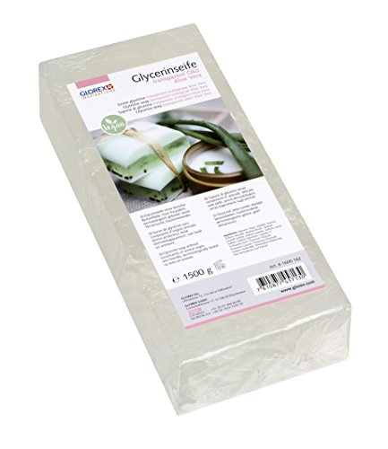 Glorex GmbH Glycerin-Seife Öko 1500g mit Aloe Vera transparent -