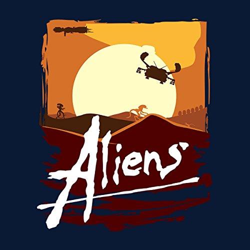 Aliens Apocalypse Now Mashup Men's Vest Navy Blue