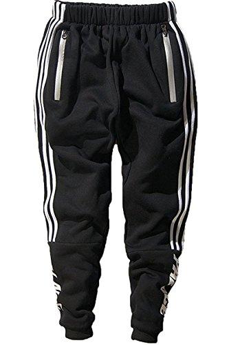 Minetom Herren Casual Hoodie Trousers Jungen Hippie Jogginghose Freizeit Skinny Hose mit Aufdruck Pullover Hip Hop Streetwear Sweatshirt Trousers01 EU S (J Crew Trainingshose)
