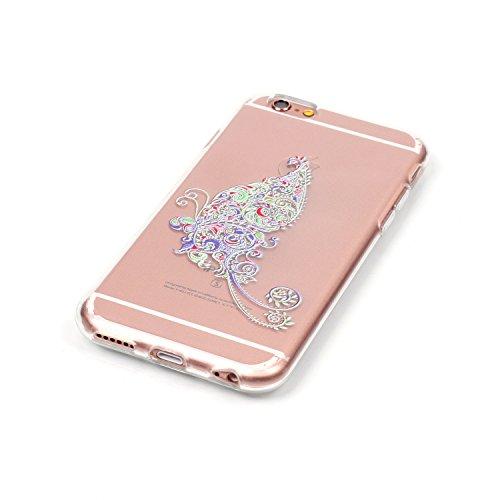 Custodia trasparente per iPhone 5/5S, custodia in gomma trasparente per iPhone SE, marca Toyym, con motivo animale o fiore colorato, per ragazza. Design sottile, realizzato in eco-silicone TPU morbido Colour-10
