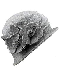 Gorros Mujeres Invierno Elegante Sombrero De De Fieltro Sombrero Pesca  Cálido Especial Estilo Flores Decorativas Cubo 4f798d7c789
