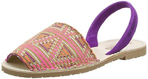 Retro Kühlschrank Violett : Solillas damen punta slingback sandalen violett violett